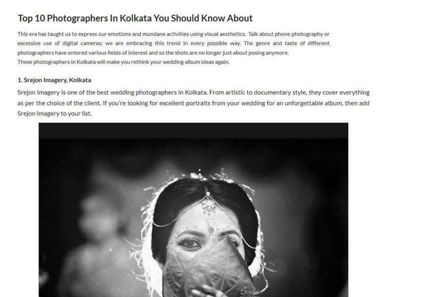 Top Wedding Photographer in Kolkata by NDTV's BandBaajaa