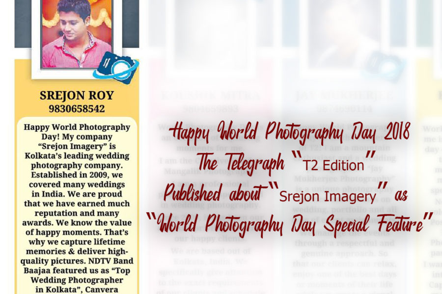 The Telegraph T2 Edition Published Srejon Imagery as World Photography Day Special Feature